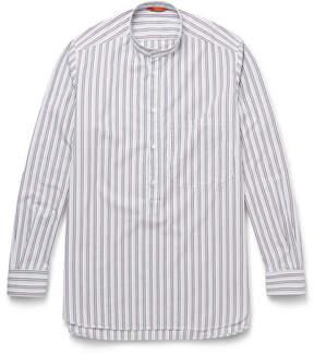 Barena Bruno Grandad-Collar Striped Cotton Shirt