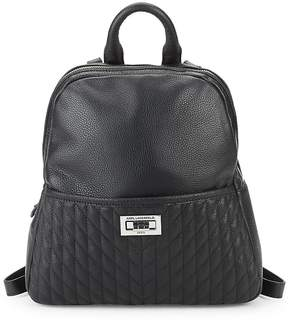 Karl Lagerfeld Women's Quilted Small Backpack