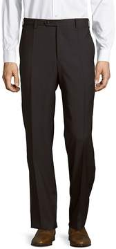 Zanella Men's Devon Flat-Front Style Wool Pants