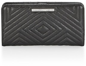 Rebecca Minkoff Geo Quilted Sophie Snap Wallet - BLACK - STYLE