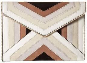 Rebecca Minkoff Leo Clutch Clutch Handbags - TAUPE MULTI - STYLE