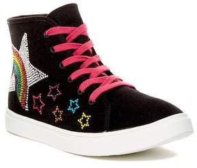 Steve Madden Rainbow Hi-Top Sneaker (Little Kid & Big Kid)