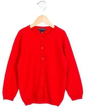 Oscar de la Renta Girls' Cashmere Button-Up Cardigan
