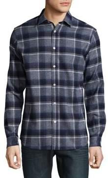 Selected Plaid Cotton Button-Down Shirt
