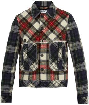 Loewe Tartan wool jacket