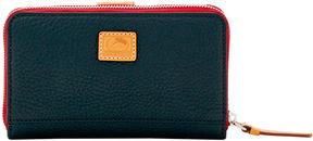 Dooney & Bourke Patterson Leather Zip Around Organizer - AZURE - STYLE