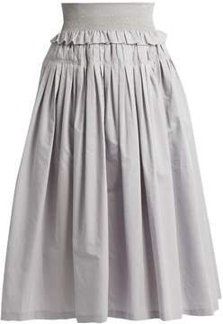Brock Collection Sibylle cotton and silk-blend skirt