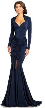 Johnathan Kayne 8093 Queen Anne Neckline Mermaid Gown