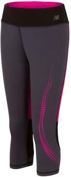 New Balance Girls 7-16 Colorblock Capri Leggings