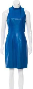 Chanel Leather Sheath Dress