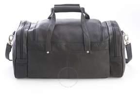 Royce Leather Royce Black Colombian Leather Overnight Duffel Bag