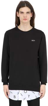 Boy London Boy Repeat Sweatshirt With Poplin Detail