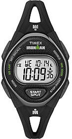 Timex Women's Ironman Sleek 50 Series Black Strap Watch