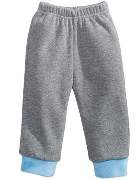 First Impressions Jogger Pants with Faux-Fur Hems, Baby Boys (0-24 months), Created for Macy's
