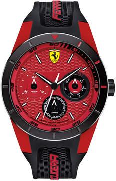 Ferrari Scuderia Men's RedRev T Black Silicone Strap Watch 44mm 830255