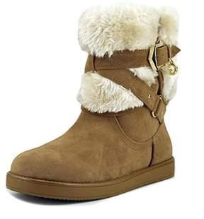 G by Guess Alixa Women Round Toe Faux Fur Tan Winter Boot.