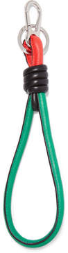 Loewe Knotted Leather Keychain - Green