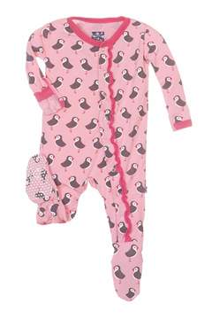 Kickee Pants Lotus Puffin Footie