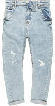 River Island Boys light blue ripped Tony slouch jeans