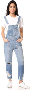 Blank Distressed Overalls