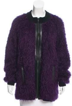 Dagmar Leather-Trimmed Mohair Jacket