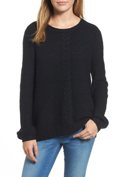 Caslon Women's Cable Front Sweater