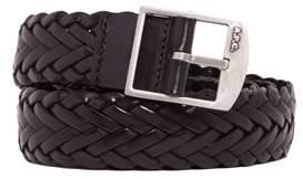 A.P.C. Men's Black Leather Belt.
