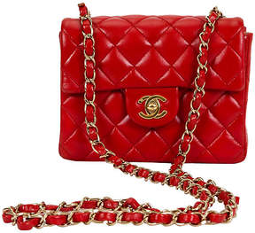 One Kings Lane Vintage Chanel Red Mini Classic Flap Bag