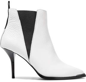 Acne Studios Jemma Textured-leather Ankle Boots - White