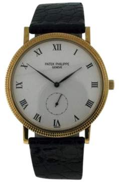 Patek Philippe Calatrava 3919J 18K Yellow Gold Manual Wind 32mm Mens Watch
