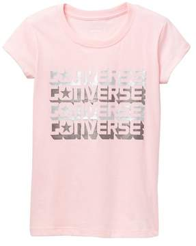 Converse Word Mark Shadow Tee (Big Girls)