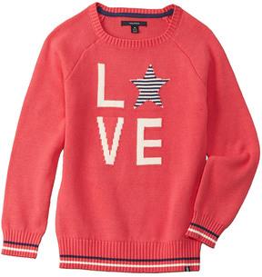 Nautica Girls' Graphic Sweater