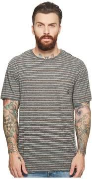 VISSLA Flushed Short Sleeve Heathered Knit Pocket Top Men's Clothing