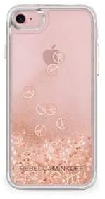 Rebecca Minkoff Glitterfall Peace Sign iPhone 7 Case