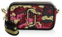 Marc Jacobs Camouflage Sequined Crossbody - PINK - STYLE