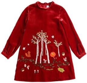 Simonetta Embroidered Velvet Dress