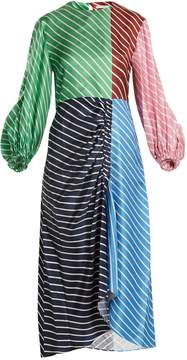 Tibi Delphina striped silk dress