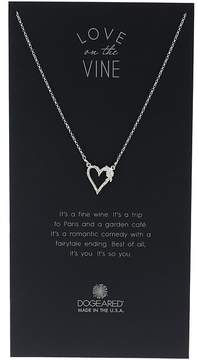 Dogeared Love On The Vine, Heart w/ Bloom Love Charm Neckalce Necklace
