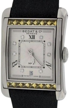 Bedat & Co Bedat No.7 Stainless Steel & Yellow Sapphires & Diamonds Womens Watch