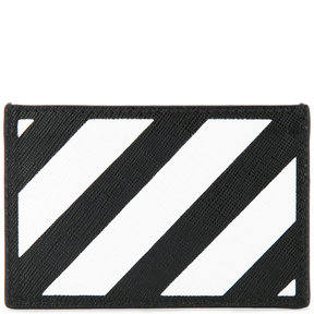 Off-White diagonals print card holder