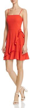 Aqua Ruffled Faux-Wrap Dress - 100% Exclusive