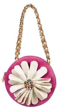 Carlos Falchi Mini Floral Python Bag