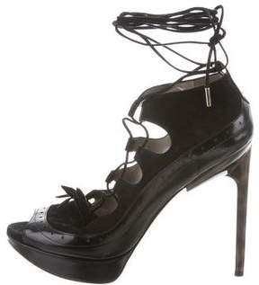 Jason Wu Suede Lace-Up Pumps