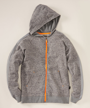 DKNY Griffin Gray Zip-Up Hoodie - Boys