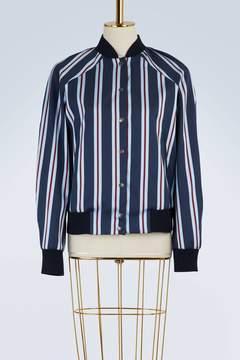 Kenzo Striped cotton bomber jacket
