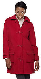 Denim & Co. As Is Micro- Fleece Lined Toggle Coat w/ Removable hood
