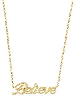 Bony Levy 14K Yellow Gold Believe Pendant Necklace