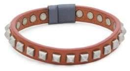 Tateossian Pyramid Studded Leather Bracelet