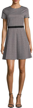 CeCe Women's Trellis Link A Line Dress