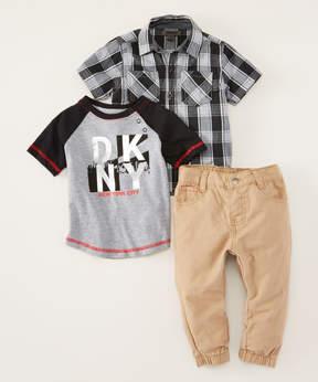 DKNY Caviar City View Button-Up Set - Infant, Toddler & Boys
